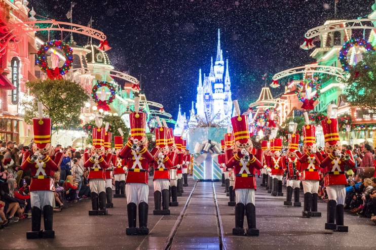 When do The Walt Disney World Resort Christmas decorations go up?