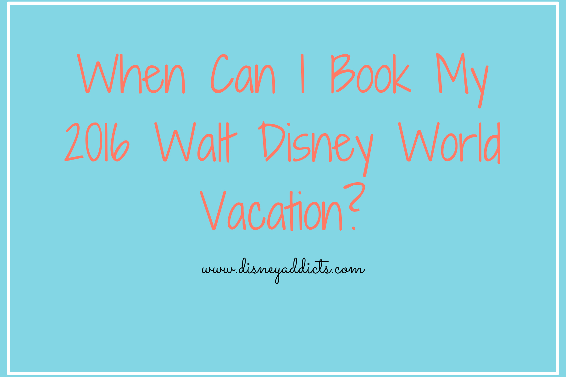 2016 Disney World packages