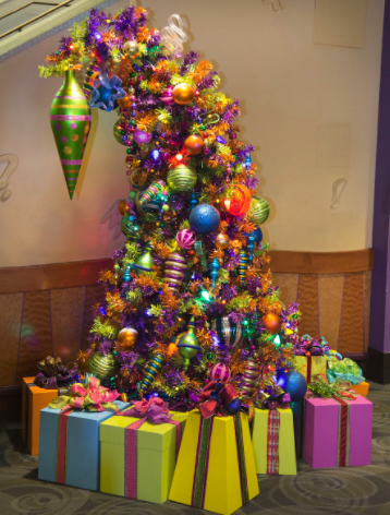 goofys kitchen disneyland hotel if theres one tree that we wish we could take home with us each christmas its the quirky and colorful creation youll